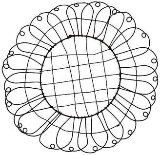 One Kings Lane Vintage 19th-C. French Wire Basket