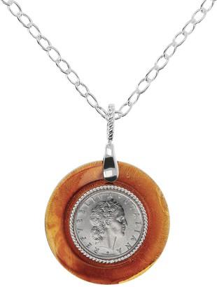 Argento Arte D'argento Arte D' Sterling 50-Lire Coin Pendant with Chain