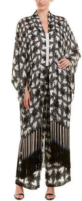 Anna Sui Chasing Hearts Silk-Blend Jacket