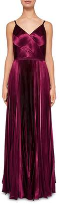 Ted Baker Efrona Pleated Satin Gown