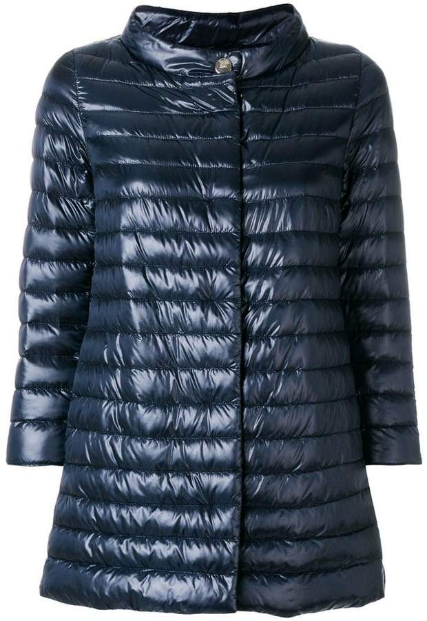 cropped sleeves padded jacket