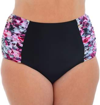 1df094f24de3c Cyn And Luca Plus Size Cyn and Luca Floral High-Waisted Bikini Bottoms