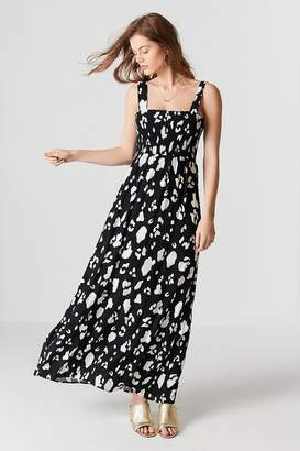 Just Female Amanda Smocked Maxi Dress