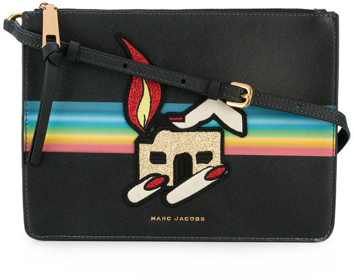 Marc Jacobs Marc Jacobs printed patch pouch
