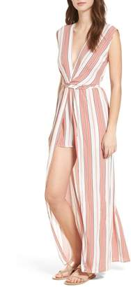 Everly Twist Front Maxi Romper