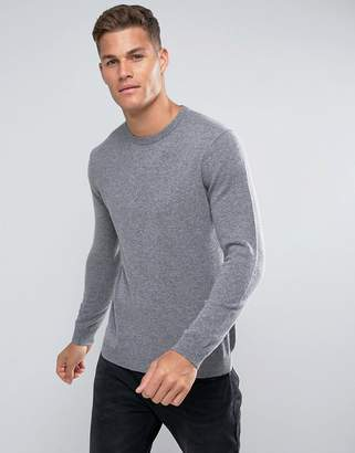 Benetton 100% Merino Jumper In Grey