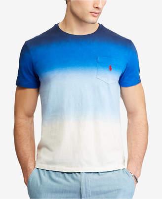 Polo Ralph Lauren Men's Ombre Custom Slim Fit Jersey Pocket T-Shirt
