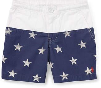 Ralph Lauren Prepster Colorblock Star Shorts, Size 2-4