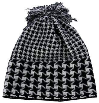 Stella McCartney Houndstooth Wool Beanie