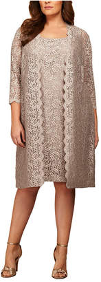 Alex Evenings Plus Size Lace Sheath Dress and Jacket
