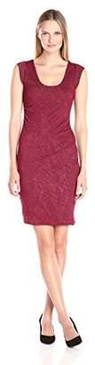 Velvet by Graham & Spencer Women's Textured Knit Ruched Dress