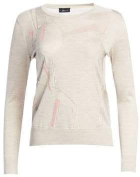 Akris Linea Tulle Collage Knit Sweater