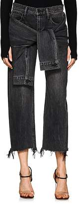 Alexander Wang Denim x Women's Stack Tie Crop Wide-Leg Jeans