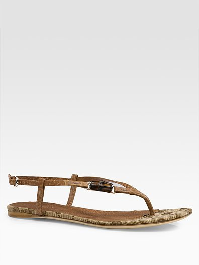 Gucci Bamboo Icon Thong Sandals