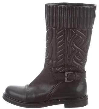 Aquatalia Leather Round-Toe Boots