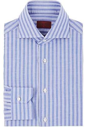 Isaia Men's Striped Cotton-Linen Dress Shirt - Stripe