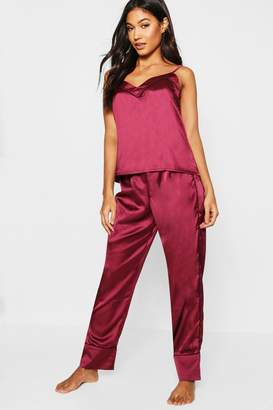 boohoo Piped Cami & Trouser PJ Set