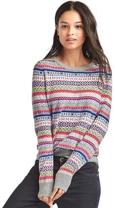 Crazy fair isle merino wool blend sweater $69.95 thestylecure.com