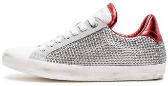 Zadig & Voltaire Women's Zadig Sides Studs Lace Up Leather Sneakers