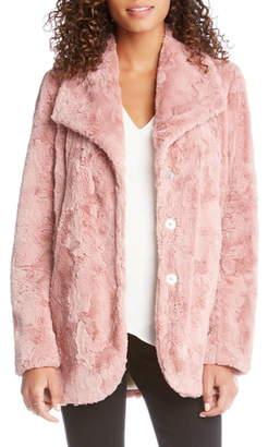 Karen Kane Oversize Lapel Faux Fur Coat