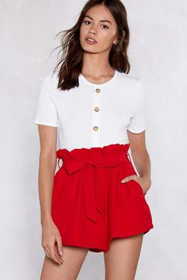 Nasty Gal In the Bag Paperbag Shorts
