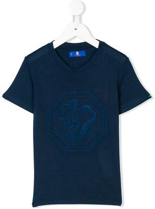 Stefano Ricci Kids dragon embroidered T-shirt