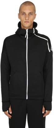 adidas Zip-Up Techno Sweatshirt Hoodie