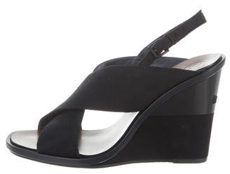 Tory Burch Tory Burch Suede Wedge Sandals