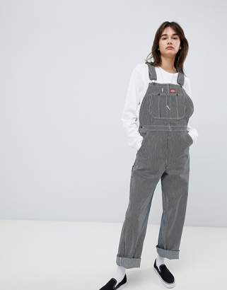 Dickies Boyfriend Dungarees With Small Patch Logo