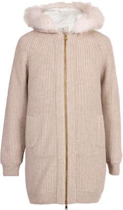 Brunello Cucinelli Cashmere and Puffer Vest Double Coat