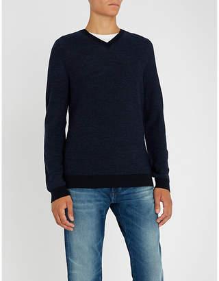 BOSS V-neck wool jumper