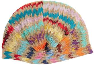Missoni MARE Zigzag knitted turban hat