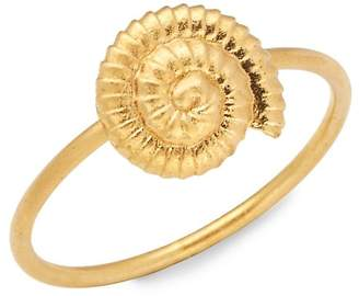 Valentino Women's Matte Goldtone Shell Charm Ring