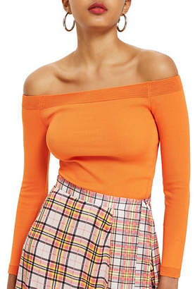 Topshop Knit Bardot Top