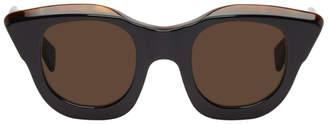 Kuboraum Black and Tortoiseshell U10 Sunglasses