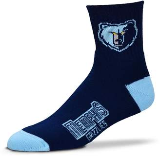 For Bare Feet Adult Memphis Grizzlies Team Color Quarter-Crew Socks