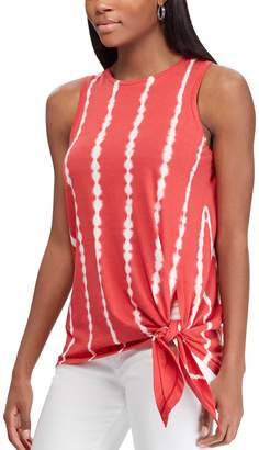 Chaps Women's Knot-Front Tank