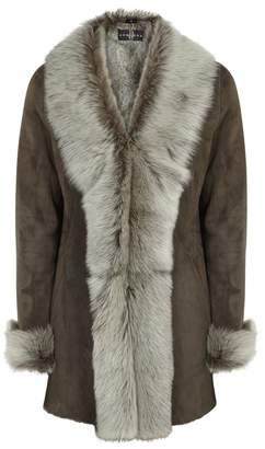 Dom Goor Chocolate Brown Shearling Coat