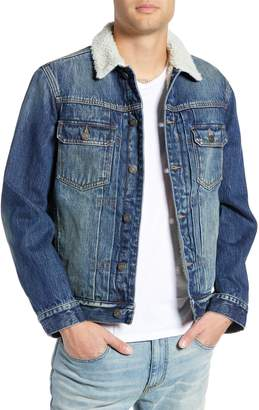 Treasure & Bond Denim Jacket with Faux Shearling Collar