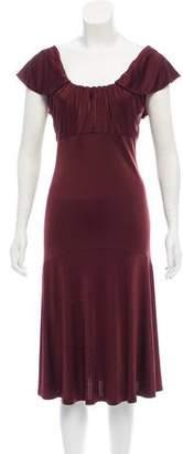 Michael Kors Flounced Midi Dress