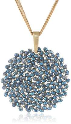 """Kenneth Cole New York Woven"""" Faceted Bead Pendant Necklace"""