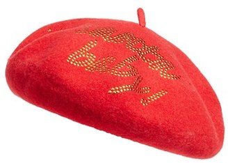 Women's Collection Xiix Santa Baby Wool Beret - Red $32 thestylecure.com