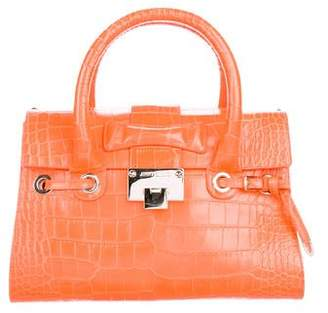 Jimmy Choo Embossed Leather Satchel