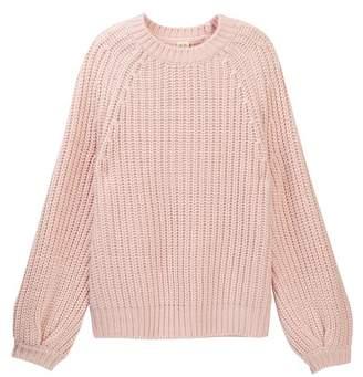 Harper Canyon Bubble Sleeve Knit Sweater (Big Girls)