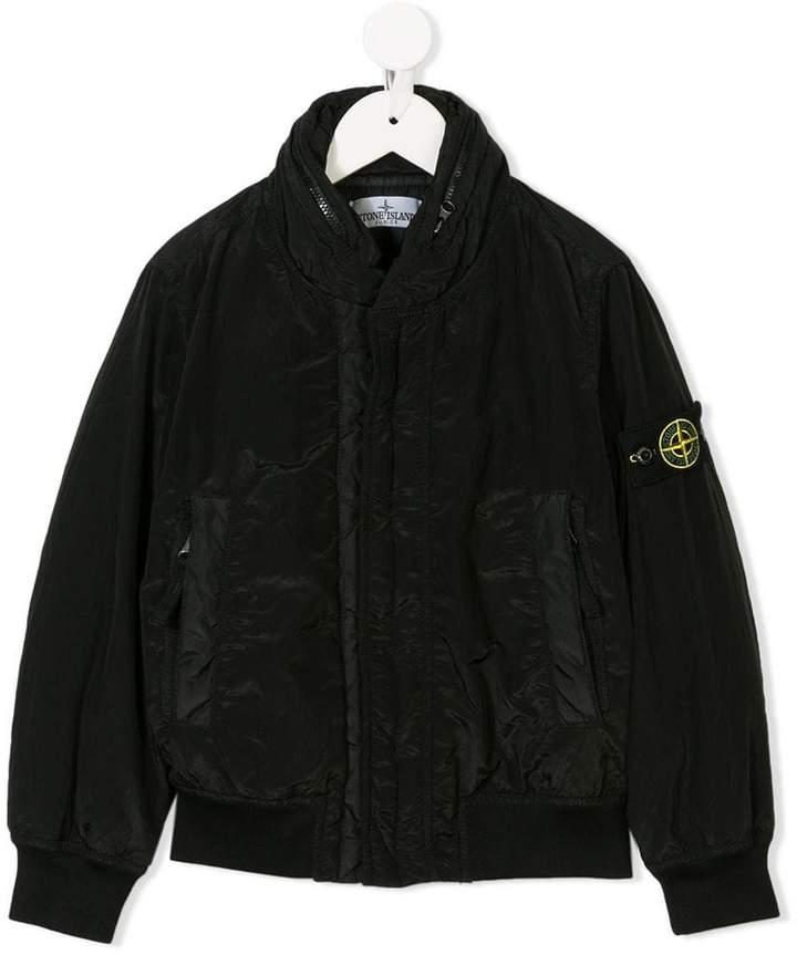 Stone Island Junior concealed fastening bomber jacket