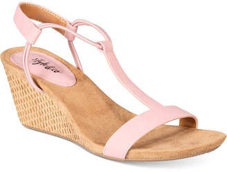 Style & Co Mulan Wedge Sandals, Only at Macy's $34.98 thestylecure.com