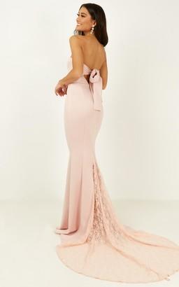 Showpo Always Will Love You Dress in blush - 4 (XXS) Bridesmaid