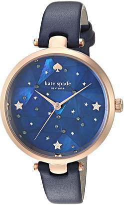 Kate Spade Women's 'Holland' Quartz Stainless Steel and Leather Casual Watch, Color:Blue (Model: KSW1387)