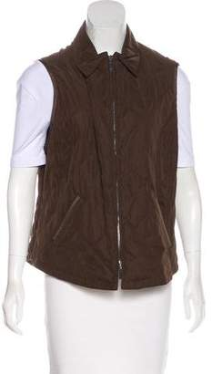 Façonnable Collared Quilted Vest