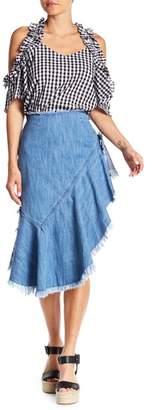 Do & Be Do + Be Ruffled Asymmetrical Denim Skirt